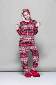 Kerst Onesie Rood